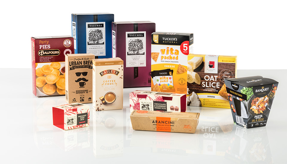 Image of customised cartons from Detpak