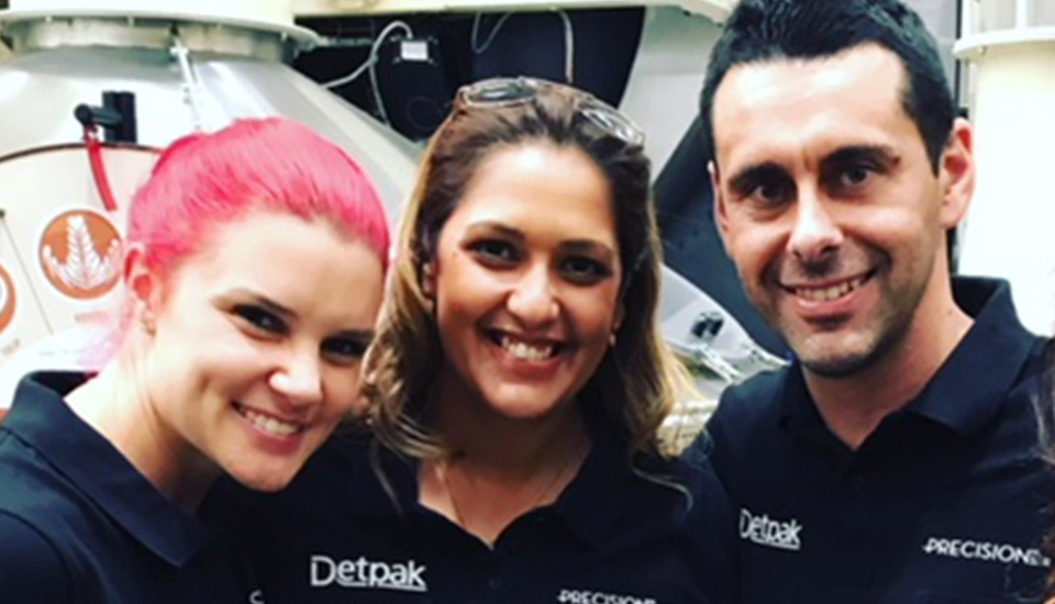 Image of Candice Orlando with Megan, Clint and Abbie at a Detpak Smackdown event