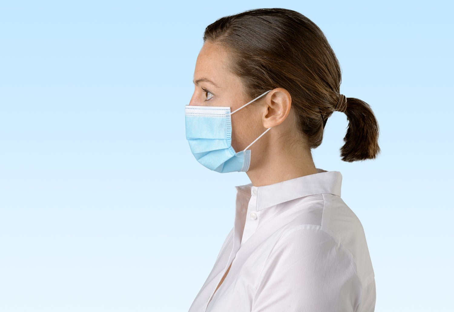 Image of person wearing a Detmold Medical face masks