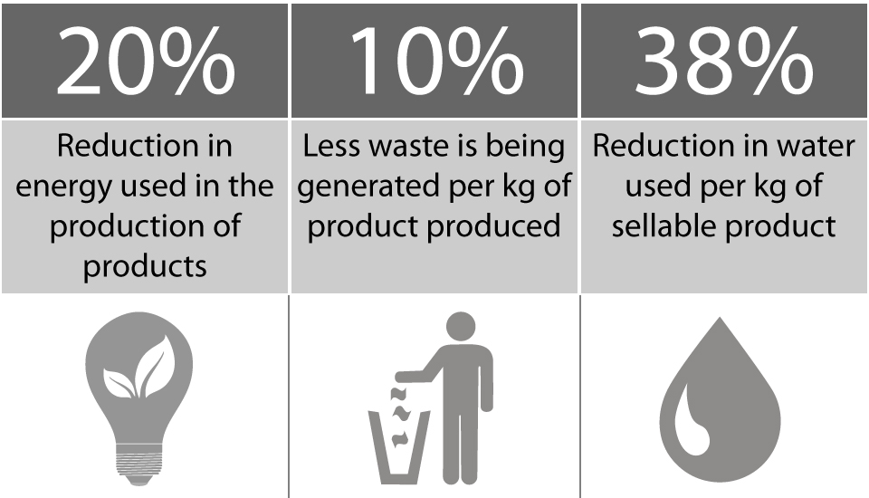 Detmold Group Sustainability Reduction Chart