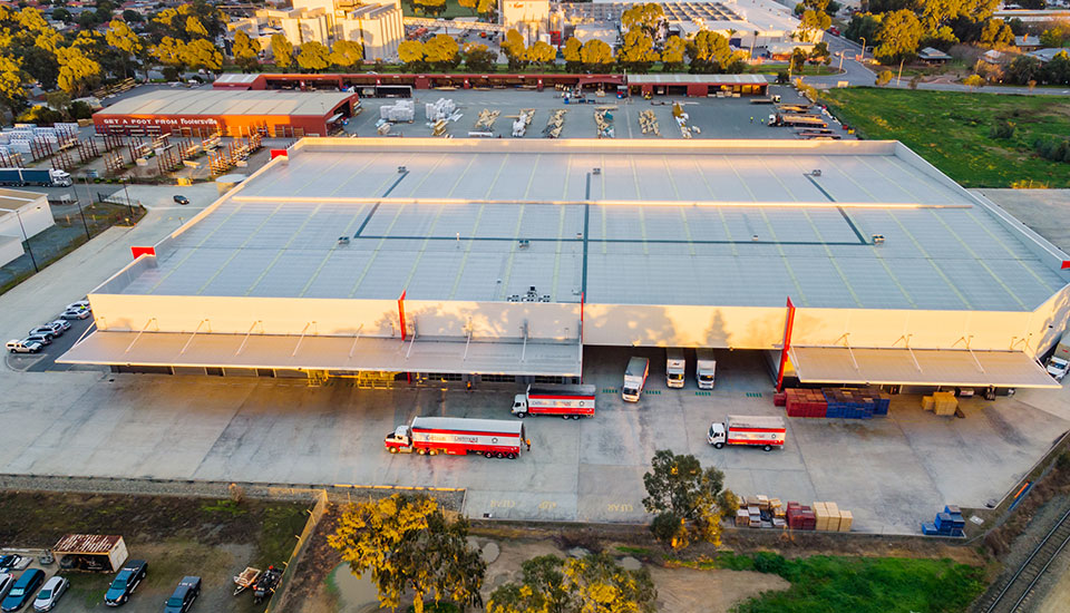 Detmold Group Regency Warehouse Arial View