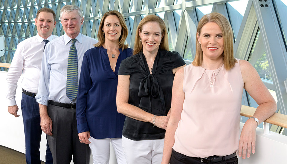 Image of Detmold family, CEO Alf, and famiyl members Rodney, Zoe, Sascha and Pippa